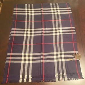 Authentic Burberry Lightweight Checked Scarf- NWT